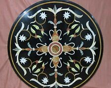 dining Marble Center Coffee 2' Table Top Mosaic black Marquetry  Decor Gift