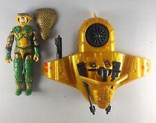 "1986 GI Joe Cobra Serpentor & Air Chariot 3.75"" inch action figure #1"
