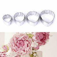 Stainless Steel Peony Plunger Cutter Mold Sugarcraft Fondant Cake Decorating set
