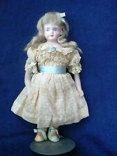 "Antique 8"" German Bisque Doll 123 All Original Clothes Wig Shoes"