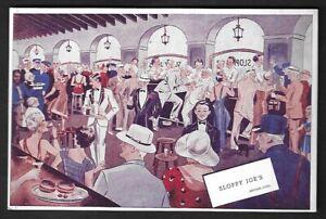 "1930's Havana,Cuba ""Sloppy Joe's Bar"" Art Deco Style Postcard"