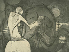 John Ivor Stewart PPPS (1936-2018) - 20th Century Etching, Abstract Figure