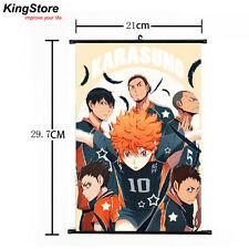 Japan Anime Haikyuu Shoyo Hinata Shonen Home Decor Poster Wall Scroll 21*30cm 03
