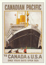 ROBERT  OPIE  ADVERTISING  POSTCARD  -  CANADIAN  PACIFIC  TO  CANADA  &  U.S.A.