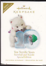 2010 Hallmark Ten Terrific Years REPAINT Snowball Tuxedo Series Ornament NIB NEW