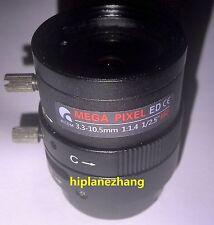 Camera Lens IR 3.0Megapixel Varifocal 3.3-10.5MM D/f' 1/1.4 CS Mount Manual Iris