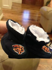 Chicago Bears baby booties slippers size 0-3 months furry