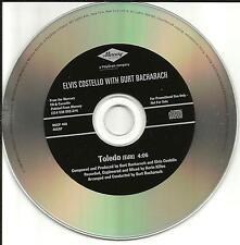 ELVIS COSTELLO & BURT BACHARACH Toledo w/ RARE EDIT PROMO DJ CD single 1998 USA