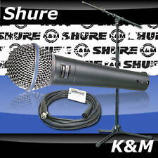 Shure Beta 58A 58/K&M 210/9 Stand/Whirlwind Mic Cable! Full Warranty Authorized!