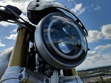 "Honda CB LED Headlight Black 7"" 50W E MARKED CB500 CB600 CB1300 CB1100 CB650"