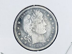 SOLID SILVER 1896 BARBER QUARTER IN VERY NICE UNGRADED CONDITION We've More 4U2C