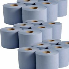 42 Rolls(7 Packs) Blue Centre feed Rolls Embossed 2ply Wiper Paper Towel 45M