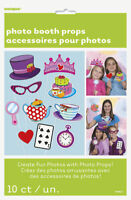 Tea Party Mad Hatter Photo Props [10pc] Birthday Party Game Activity Supplies