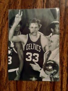 Larry Bird Celtics Basketball 4x6 Game Photo Picture Card
