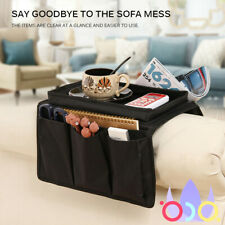 Sofa Armrest Organizer With 4 Pockets And Cup Holder For Remote, Books, Phone