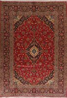 Traditional Floral Ardakan Area Rug RED Wool Hand-Knotted Oriental Carpet 8'x11'