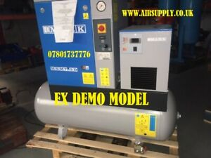 MARK MSM7.5-270D  Screw Compressor on 270L Receiver with air dryer 34cfm 10bar