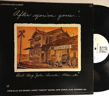 """HERB ELLIS RAY BROWN JAKE HANNA et al """"After You've Gone"""" LP Concord (1975) EX+"""