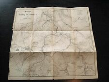 alte Landkarte karte der Umgebung von Lauenstein in Sachsen von 1892