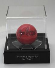 John Parrott Signed Autograph Snooker Ball Display Case Sport AFTAL COA
