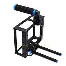 Aluminum Video Camera Cage Kit w/15mm Rod Rig Top Handle Grip for Canon 5D II 7D