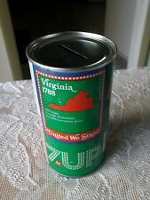 VIRGINIA VINTAGE 7-UP SODA CAN BANK  * BICENTENNIAL 1976 STEEL CAN *