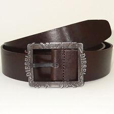 DIESEL Belt 'BIFRAME Cintura' NEW Mens Belt 100% Cow Leather ITALY Size 42''/105