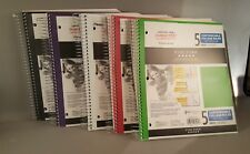 Five Star 5 Subject Notebook College Ruled 200 Sheets Customizable Cover Lot New