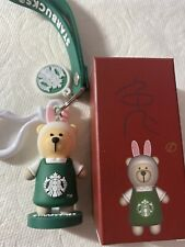 New Starbucks 2019 China Zodiac Rabbit Keychain With Box