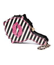 Betsey Johnson Black & White Stripe Hey Good Lookin Wristlet NEW