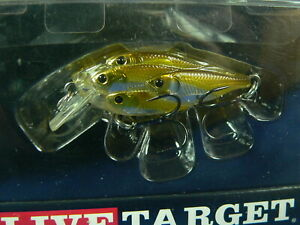 Live Target Yearling BaitBall SquareBill 50mm 7gr spinning black bass, luccio