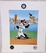 Looney Tunes Warner Seattle Mariners Keep Your Eye On The Tweety Baseball Litho