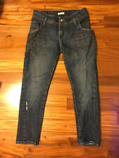 SIlence + Noise Anthropology Distressed Twisted Seam Boyfriend Jeans Size 25