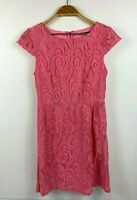 Tokito Ladies Pink Floral Lace Dress Size 8, Party, Evening, Cocktail, Races