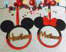 Big Minnie Mickey Personalised Baubles Hand Made Minnie Mickey Gift Present Xmas