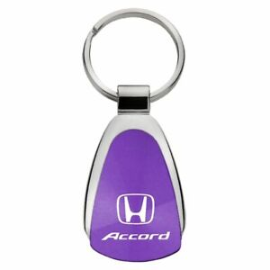 Honda Accord Key Ring Purple Teardrop Keychain
