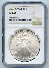 2007 American Silver Eagle MS 69 NGC