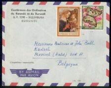 Mayfairstamps Burundi Butterfly Stamp to Belgium Airmail Cover wwg4641