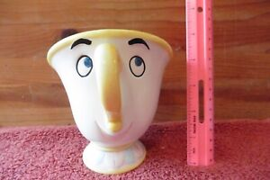 """Vintage Disney Beauty & the Beast """"CHIP"""" Ceramic Teacup Bank With Stopper Taiwan"""