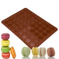 Sheet Mat Cake Mold Round 30-Cavity Pastry Oven Silicone Macaron Baking Mould
