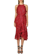 NEW Cooper St Ophelia Sleeveless Frill Dress Red