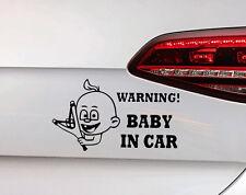 BABY On Board Adesivi Fun sfacciato ragazzo con pietra CENTRIFUGA Sticker BAMBINO KIDS