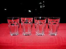 BACCARAT HARCOURT 4 WINE GLASSES GOBELETS A VIN CHAMPAGNE CRISTAL ART DECO