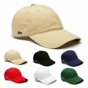 Lacoste1 Men's Classic Croc Logo Sport Adjustable Baseball Golf Summer Hat Cap