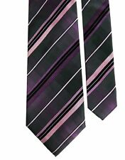 Men/'s Alfani Silk Neck Dress Tie Necktie Pluto Panel Vertical Stripe 3.25 inches
