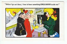 040 Before I Go Out There.... Kardorama No 65 Comic Saucy Postcard Mags Old PC