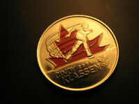 Canada  2009 Vancouver 2010 Olympics Cindy Klassen  coloured 25 Cent Coin.