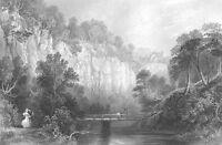 Scotland HAWTHORNDEN CASTLE RIVER NORTH ESK Midlothian, 1838 Art Print Engraving