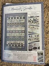 Hannah's Garden One day in May Patchwork Embroidery Wall Hanging Melissa Grant