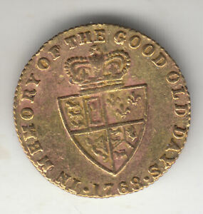 GB GEORGE 3RD BRASS CARDS TOKEN 1768            76P              BY COINMOUNTAIN